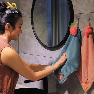 加厚卡通挂式超强吸水可爱擦手巾 厨房卫生间家用搽手帕毛巾速干