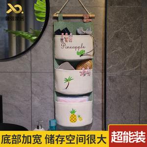 大容量墙挂式布艺门后收纳挂袋 悬挂式挂墙上储物挂兜壁挂置物袋