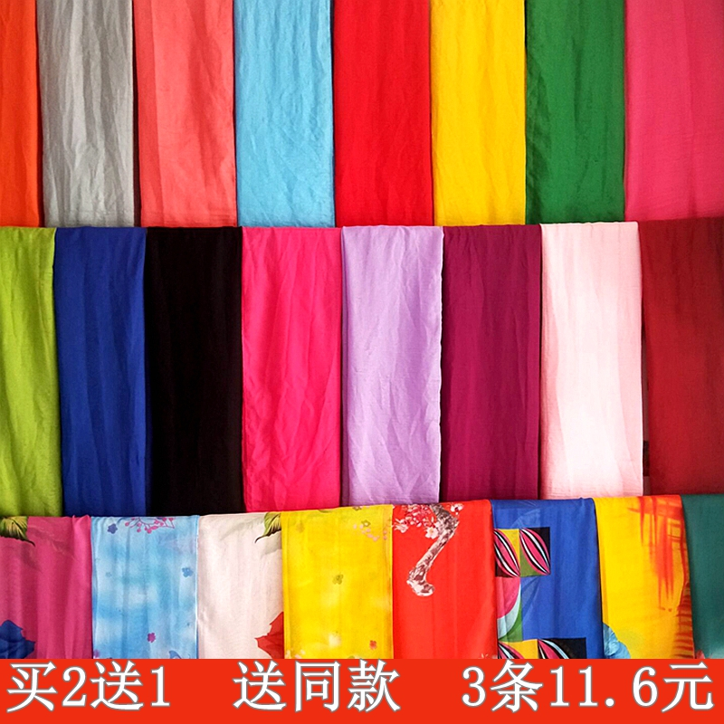 New womens sand towel extra long large silk scarf solid color cotton linen scarf sunscreen shawl beach towel