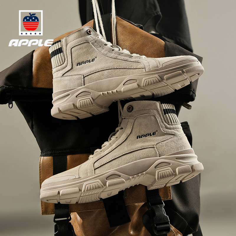 Apple apple mens shoes autumn new brand Zhongbang yingrenfeng leisure Martin boots leather desert tooling boots