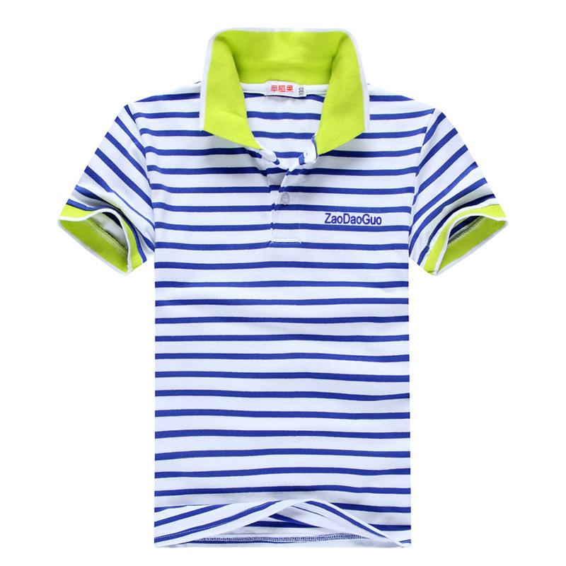 中大童純棉兒童條紋polo衫