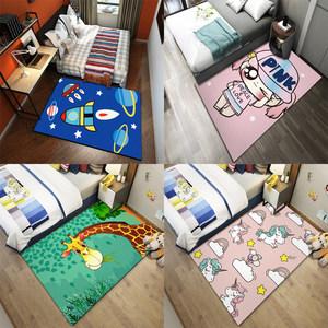 儿童卡通地毯卧室儿童房间床边飘窗榻榻米沙发垫子环保可爱卡通毯