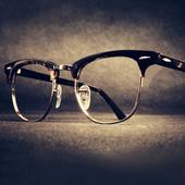 木川复古眼镜框男大脸木纹板材半框眼镜架女配大框成品近视眼镜