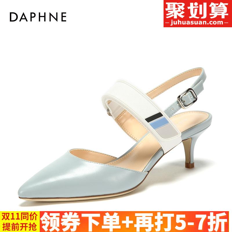 Daphne/达芙妮春季新款尖头高跟鞋女单鞋玛丽珍鞋1018102203