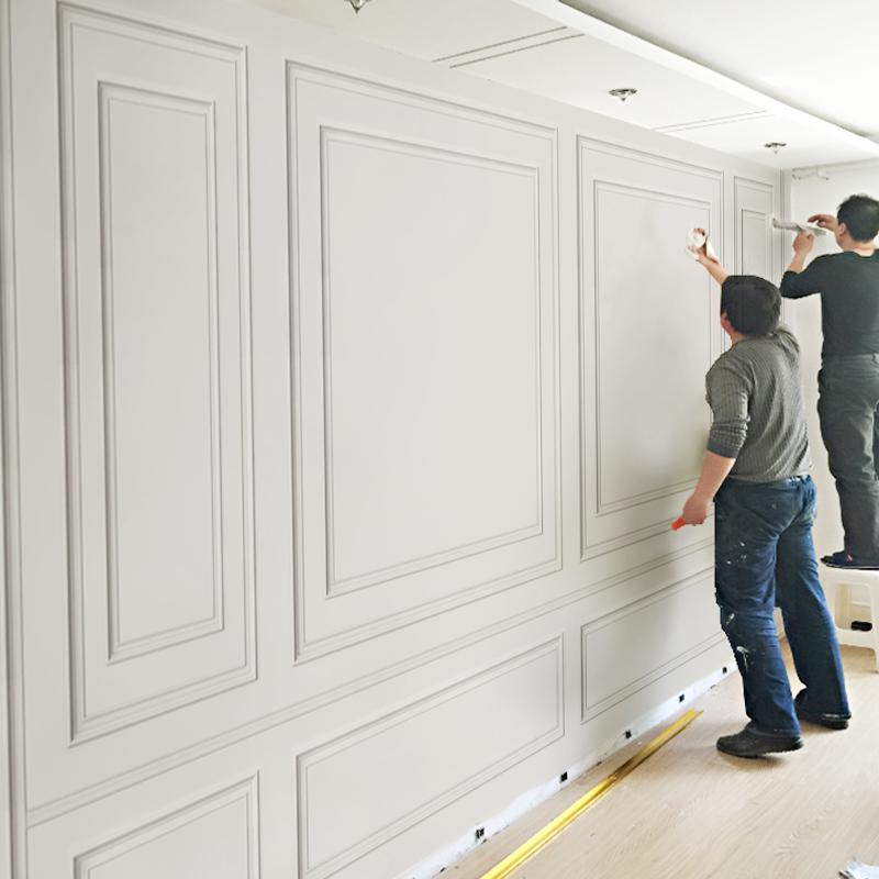 现代简约客厅电视背景墙3d立体格子造型壁布无缝壁画卧室沙发墙布