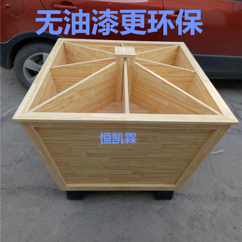 超市四方卖米的柜米粮桶米桶米斗木质货架散称散粮五谷杂粮展示柜