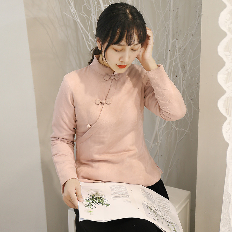 中国风棉衣女秋冬改良中式旗袍上衣复古盘扣唐装小棉袄短款外套
