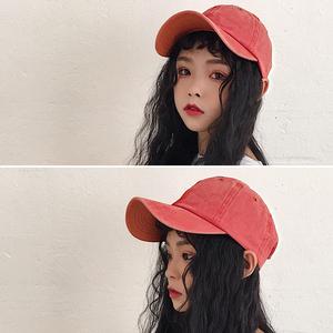 韩版帽子女夏出游防晒遮阳帽潮男学生休闲百搭光板水洗鸭舌棒球帽