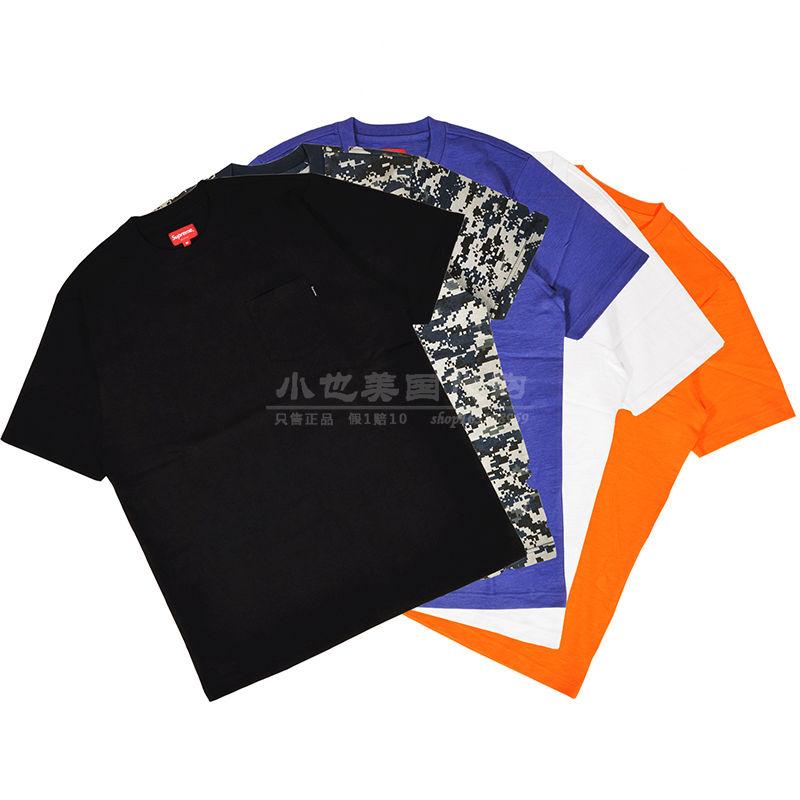 Supreme短袖T恤 S/S POCKET TEE 口袋小标Sup box Logo纯棉纯色