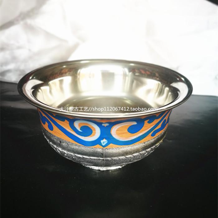 Тост Боул Монгольский копия Серебряная чаша диаметром 10 см из нержавеющей стали чаша сценического шоу верхней чаши танца реквизит ручной росписью чаша
