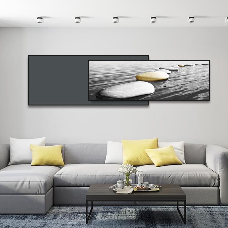 大气轻奢黑白工业风沙发客厅装饰画