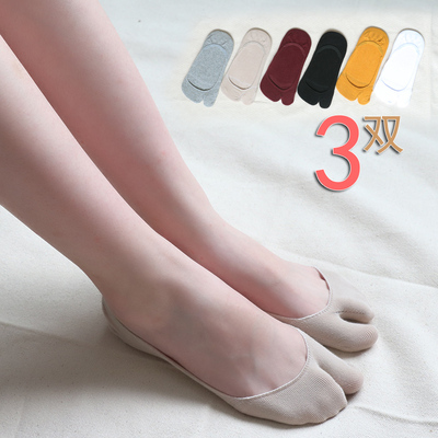 二指襪二趾襪腳趾分趾襪淺口女防滑隱形襪船襪夏季棉襪兩指襪透氣
