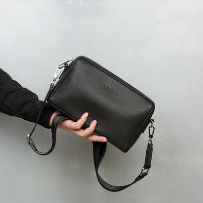 Shoulder bag men's leather large-capacity ins tide brand fashion casual men's messenger bag diagonal men's head layer cowhide