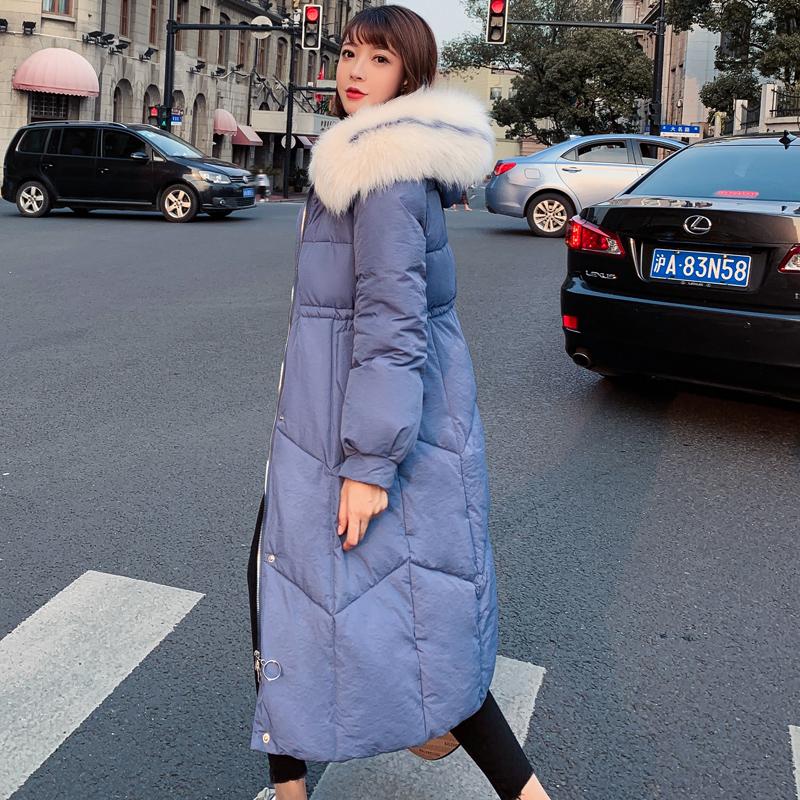 羽绒棉服女反季特卖冬季2019新款棉衣棉袄韩版宽松中长款过膝外套