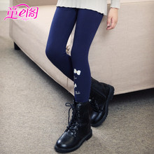 Girls' spring and autumn Leggings 2019 new medium and large children's solid color pants wear children's pants