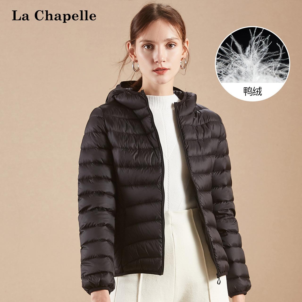 面包羽绒服女拉夏贝尔2018冬季新款韩版修身短款小个子轻薄棉服潮