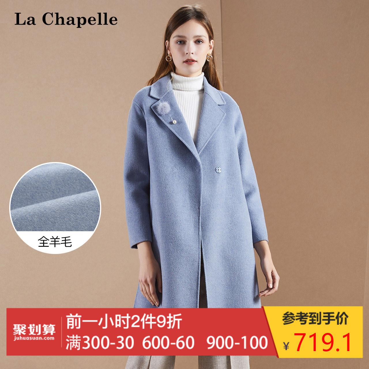 毛呢大衣女2018冬季新款韩版宽松流行学生羊毛双面呢中长呢子外套