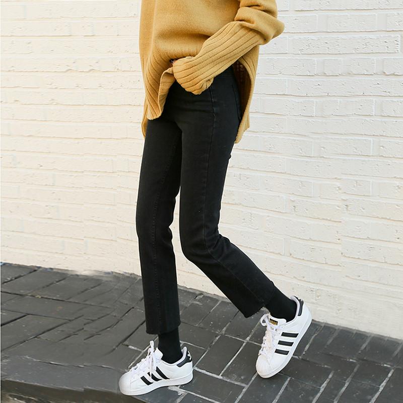 2020新款直筒牛仔裤女黑色九分阔腿夏季宽松八分高腰显瘦薄款裤子