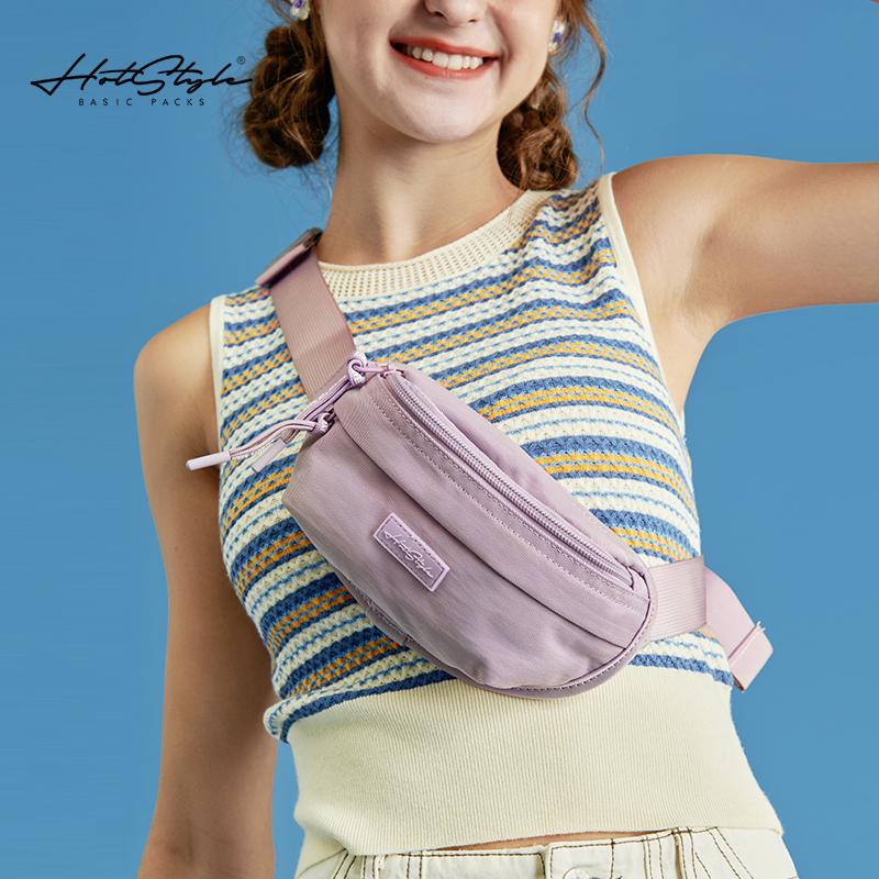 HOTSTYLE运动腰包女潮ins斜挎包轻便跑步手机包百搭迷你小包胸包