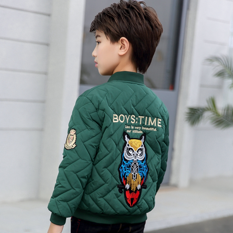 Autumn and winter clothes 2019 new middle school and university childrens coat jacket childrens foreign style cotton padded jacket Baseball Jacket childrens cotton padded jacket trend