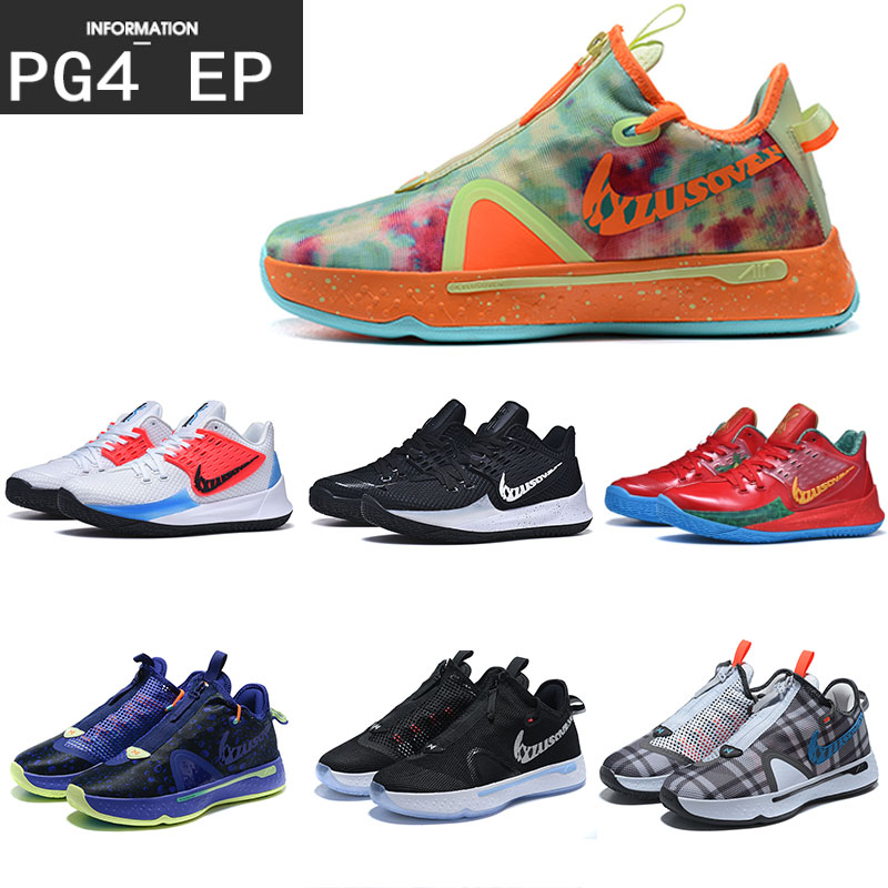 Pg4 Paul George generation 4 EP debut black and white all star grey pigeon aj1 mens shoes cool Owen generation 2 basketball shoes