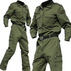 春秋纯棉迷彩服套装男特种兵军装战术作战野战服耐磨作训服工作服