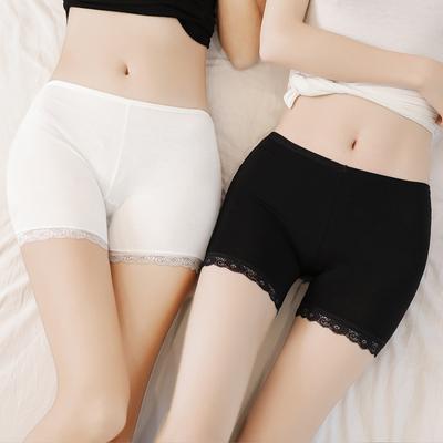安全裤防走光女夏天蕾丝可内外穿冰丝三分保险短裤无痕薄款打底裤
