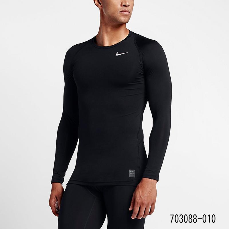 NIKE耐克秋冬款男篮球健身跑步训练服紧身衣运动长袖T恤