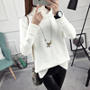 The new autumn and winter women turtleneck sweater female Korean loose pullover sweater thick bottoming wild female long-sleeved shirt