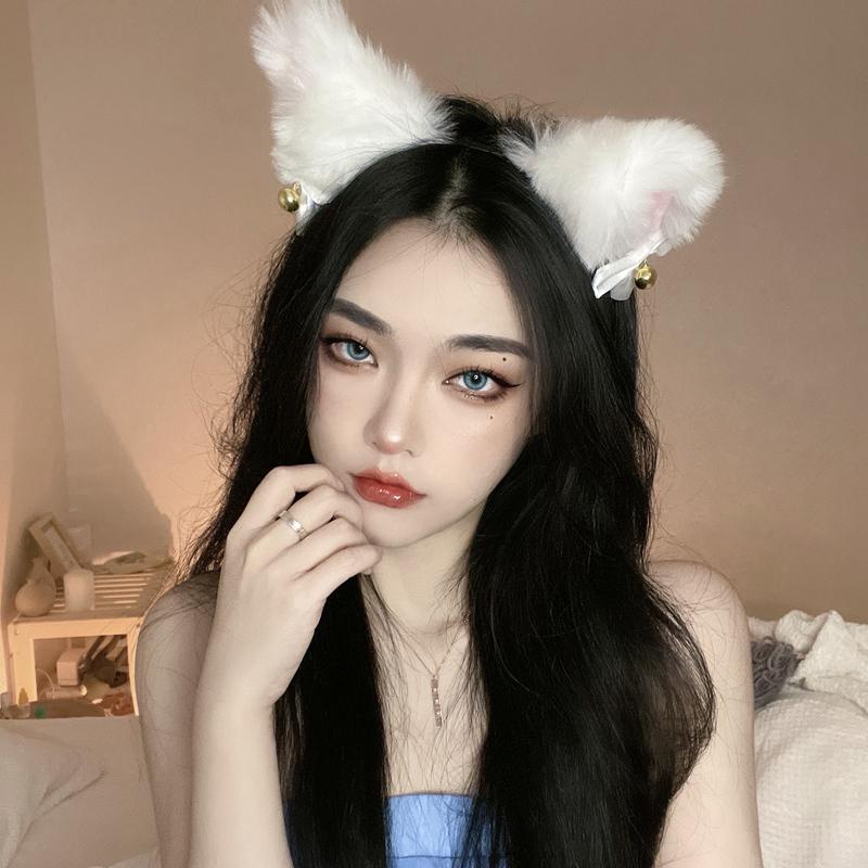 毛绒可爱猫咪猫耳朵发箍狐狸头箍头饰...