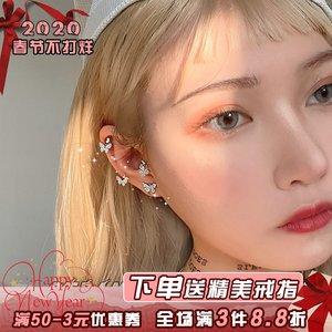 小蝴蝶2019新款潮女仙气无耳洞耳环