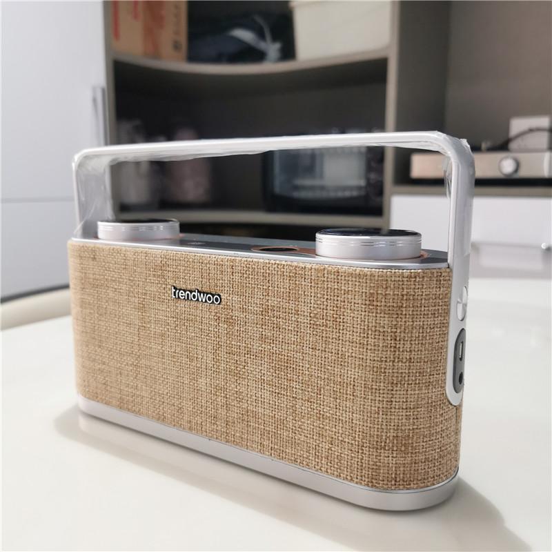 trendw外贸出口大功率20W重低音手提蓝牙音箱桌面大音量DSP铝合金