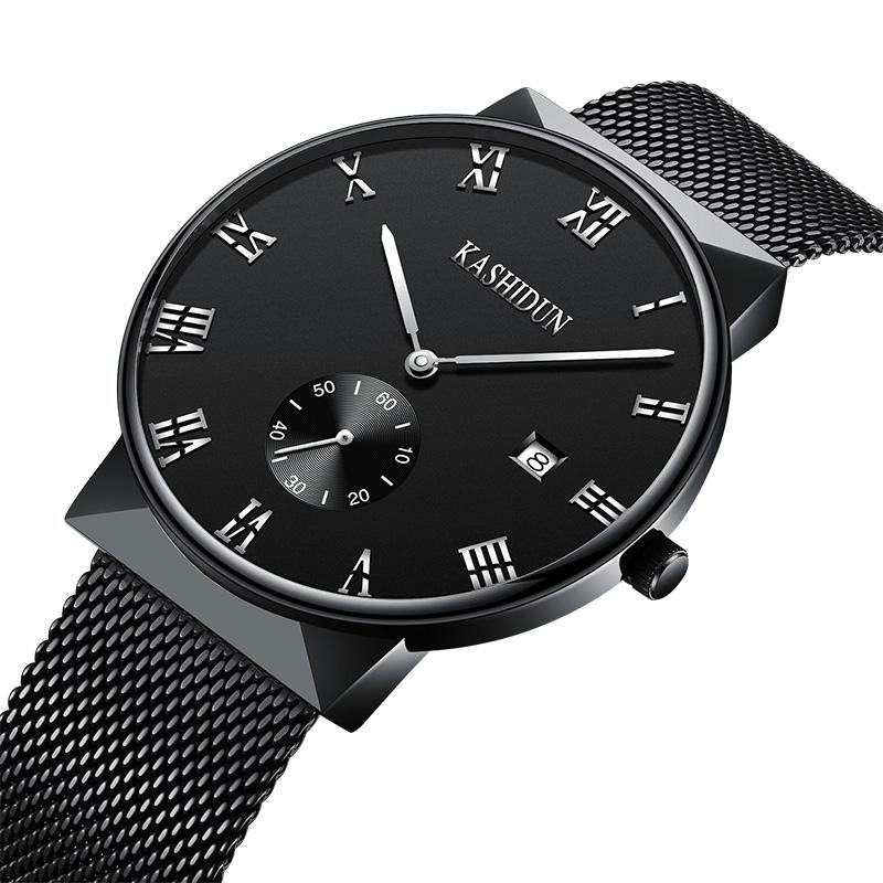 卡诗顿手表机械表男全自动机械男表皮带防水商务男士手表钢带腕表268.00元包邮