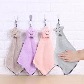 可爱挂式擦手巾厨房超强吸水洗碗毛巾不沾油抹布加厚卡通擦手布