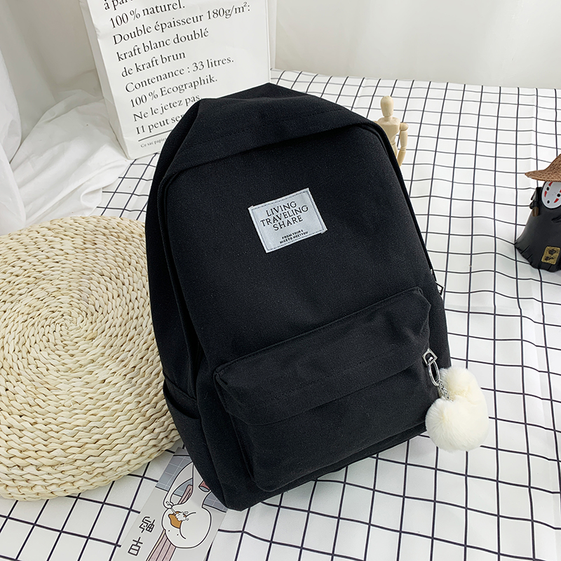 Backpack for women 2020 new fashion all-around large capacity Canvas Backpack simple schoolbag for college students Korean high school
