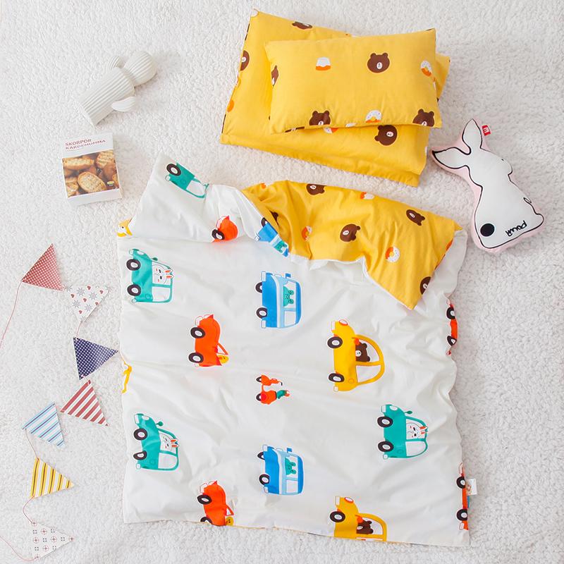 Baby childrens kindergarten quilt three piece set summer nap with core 6 pure cotton bedding baby bedding