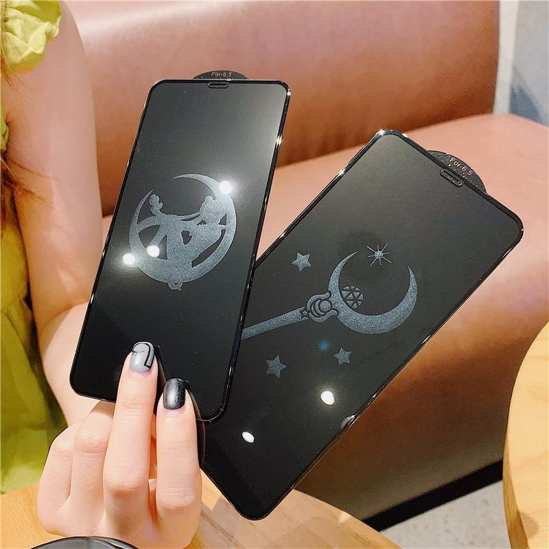 19.00元包邮美少女钢化膜iphoneXSMAX苹果X全屏玻璃膜7plus日韩XR卡通6s/7