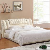 米榻榻米皮藝軟包床1.5米雙人床主臥婚床1.8妮曼迪真皮床現代簡約