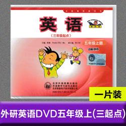现货包邮2020外研版新标准小学英语五年级上DVD三年级起点动画视频光盘光盘碟片5年级上册单光盘不含书