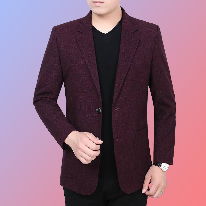 2021 spring and autumn new middle-aged mens business casual small suit top single west slim fit Korean suit coat trend