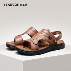 意尔康男鞋夏季真皮凉鞋两用沙滩鞋外穿休闲开车软底男士百搭凉拖