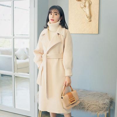 赫本风羊绒大衣女中长款2020秋冬季新款轻奢呢子非双面羊毛呢外套