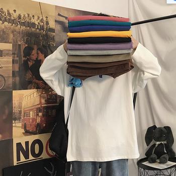 长袖t恤男宽松潮流纯色打底衫卫衣