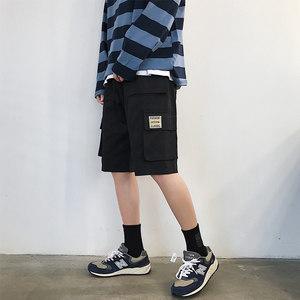 工装短裤男夏季新款韩版潮流帅气宽松休闲裤港风百搭机能风裤子