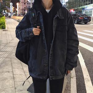 春秋男士牛仔夹克韩版潮流工装青少年港风宽松bf上衣休闲百搭外套