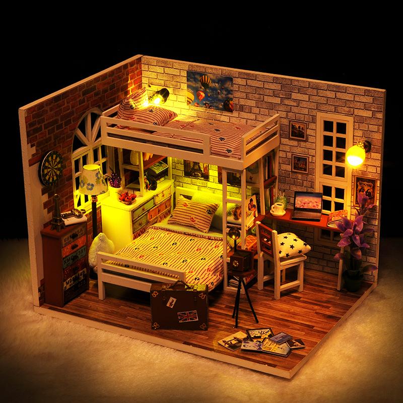 房子模型diy小屋手工创意阁楼制作玩具屋别墅公主房生日礼物女生