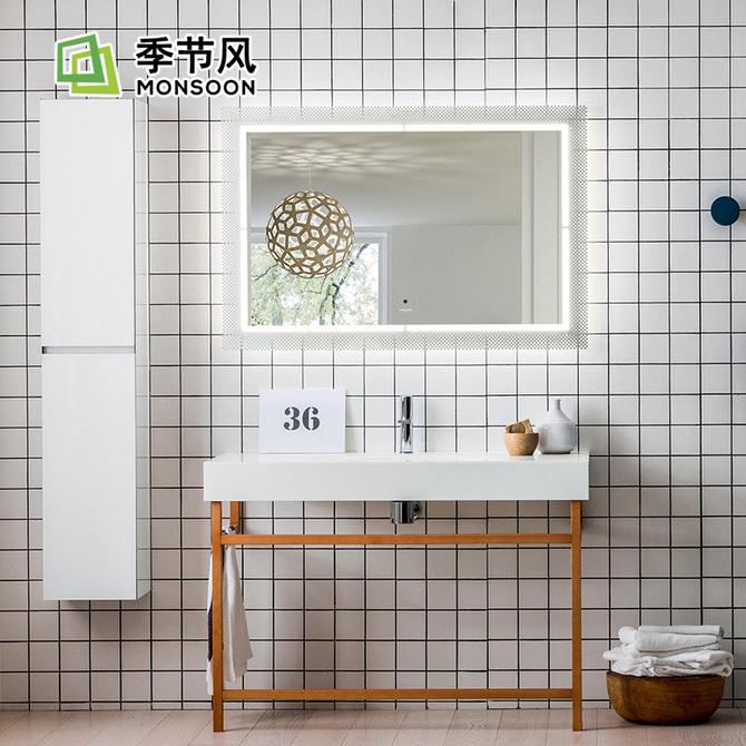 厨房方砖墙地砖 卫生间方格子马赛克浴室面包砖厕所瓷砖北欧小白砖