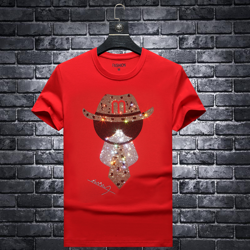 Europe 2020 new summer fashion brand slim fit mens hot drill short sleeve t-shirt mens youth t-shirt half sleeve clothes