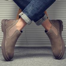 马丁靴男夏季英伦工装高帮男鞋切尔西短靴子皮靴中帮鞋子雪地潮鞋