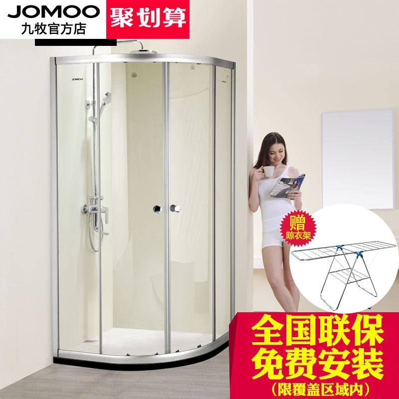 Девять золотую медаль дуга семья домой душ дом общий ванная комната закалённое стекло один ванная комната M3111